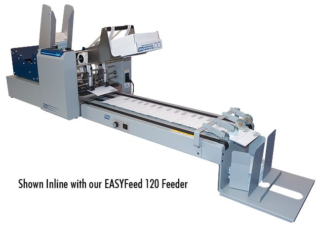Rena t350 tabber in-line with the EasyFeed 120 feeder and conveyor
