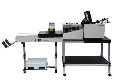 Accufast HDF Feeder with P4 Printer and CS3UV UV Curing Conveyor