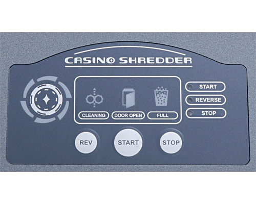 Controls for the Formax FD 87 Casino Shredder