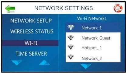 The AS-450 Wi-Fi setup screen