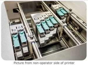 Photo of the 3 ea Print Banks on the Rena AS-850 Envelope Printer